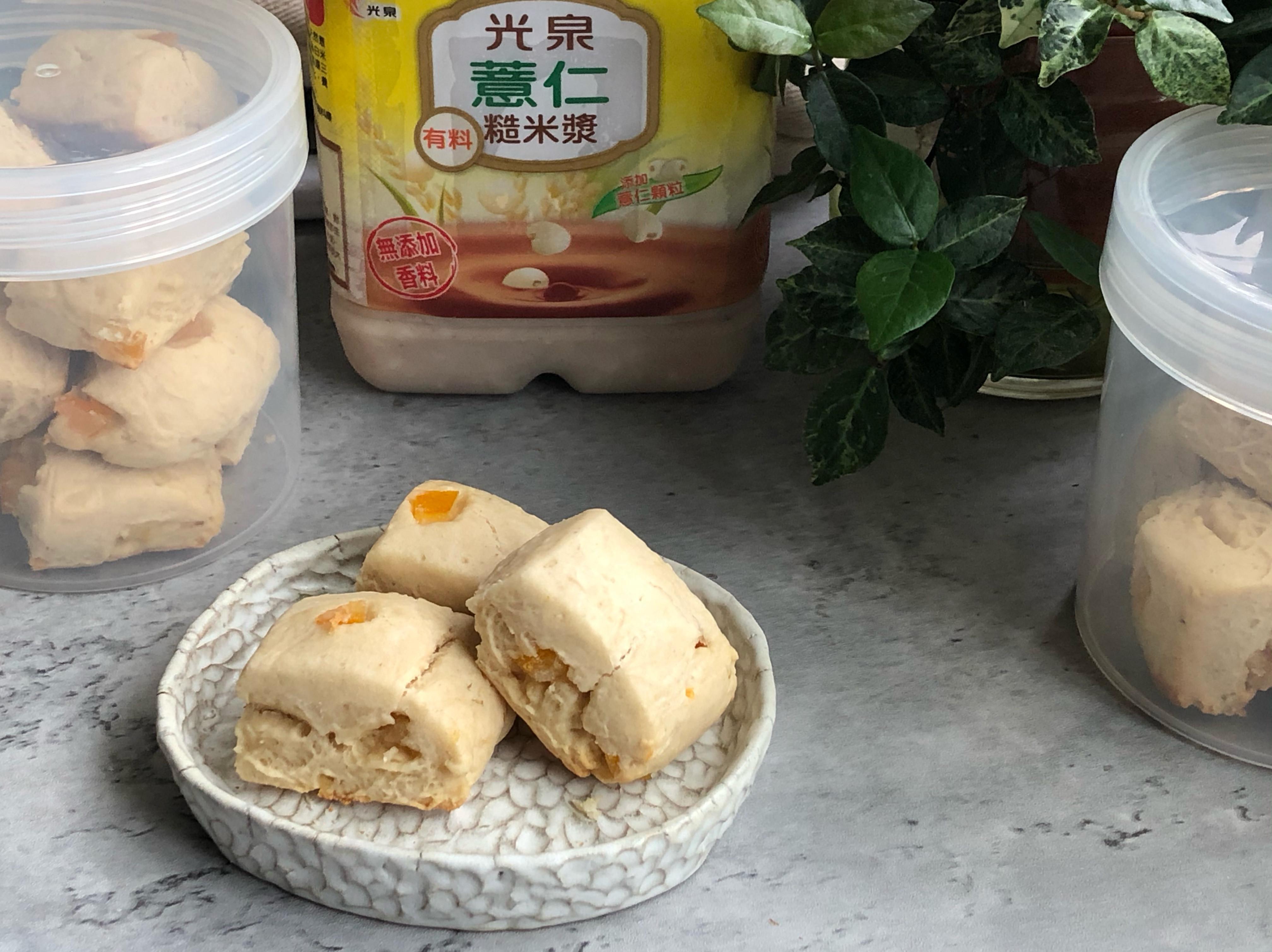 米漿橙丁司康/光泉薏仁米漿