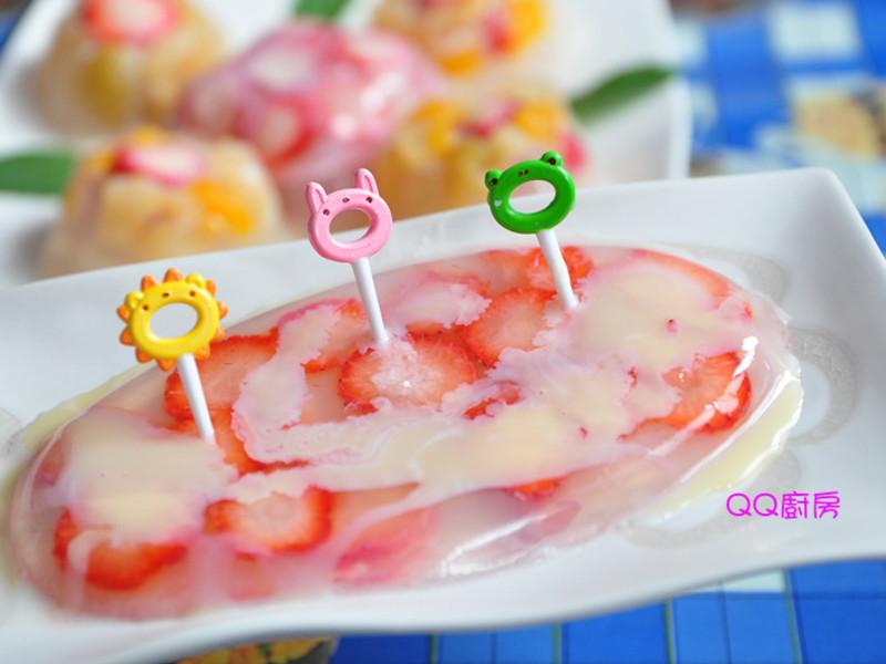 【草莓就愛鷹牌煉奶】水果草莓凍