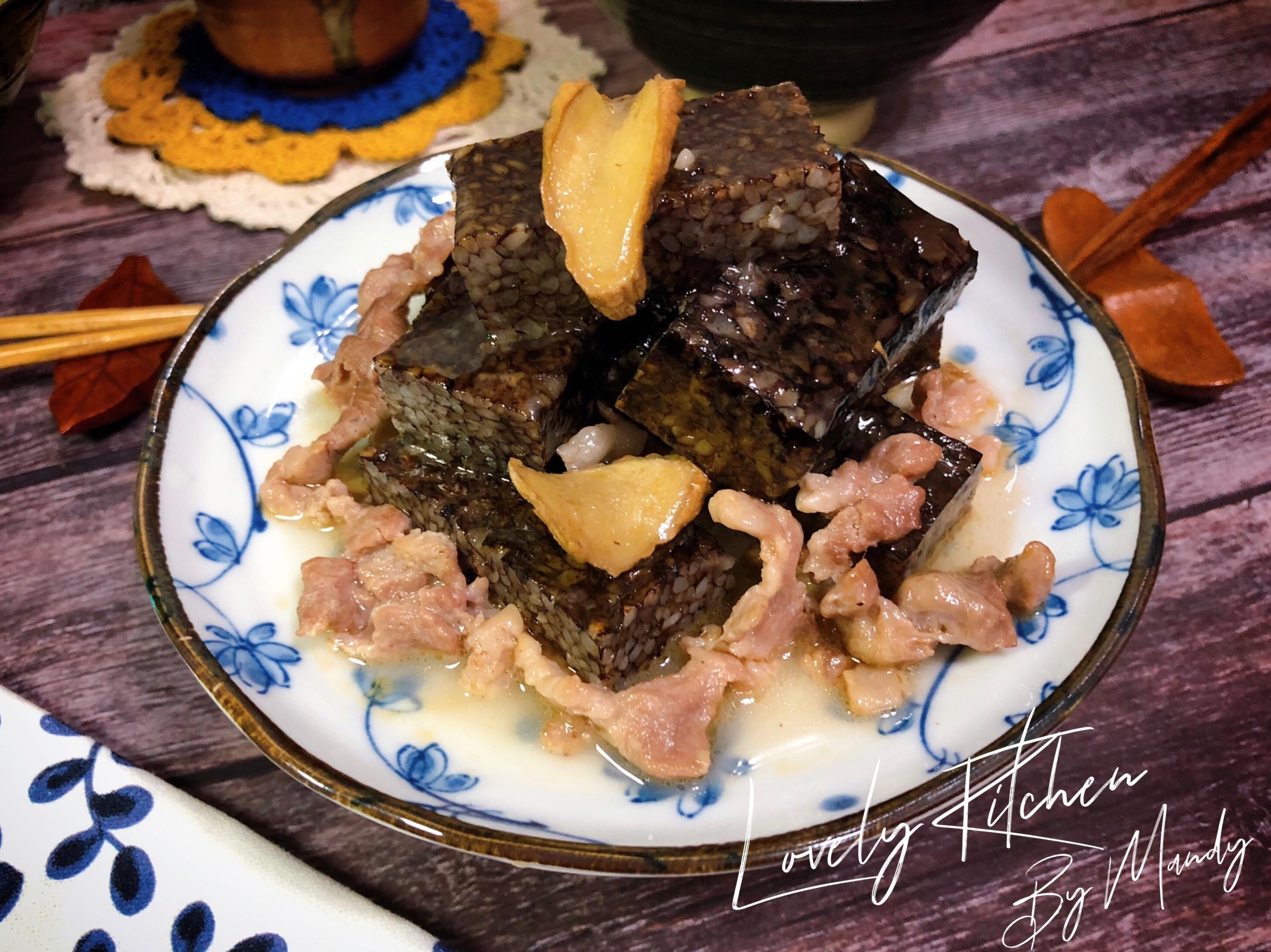 滷麻油梅花肉米血糕