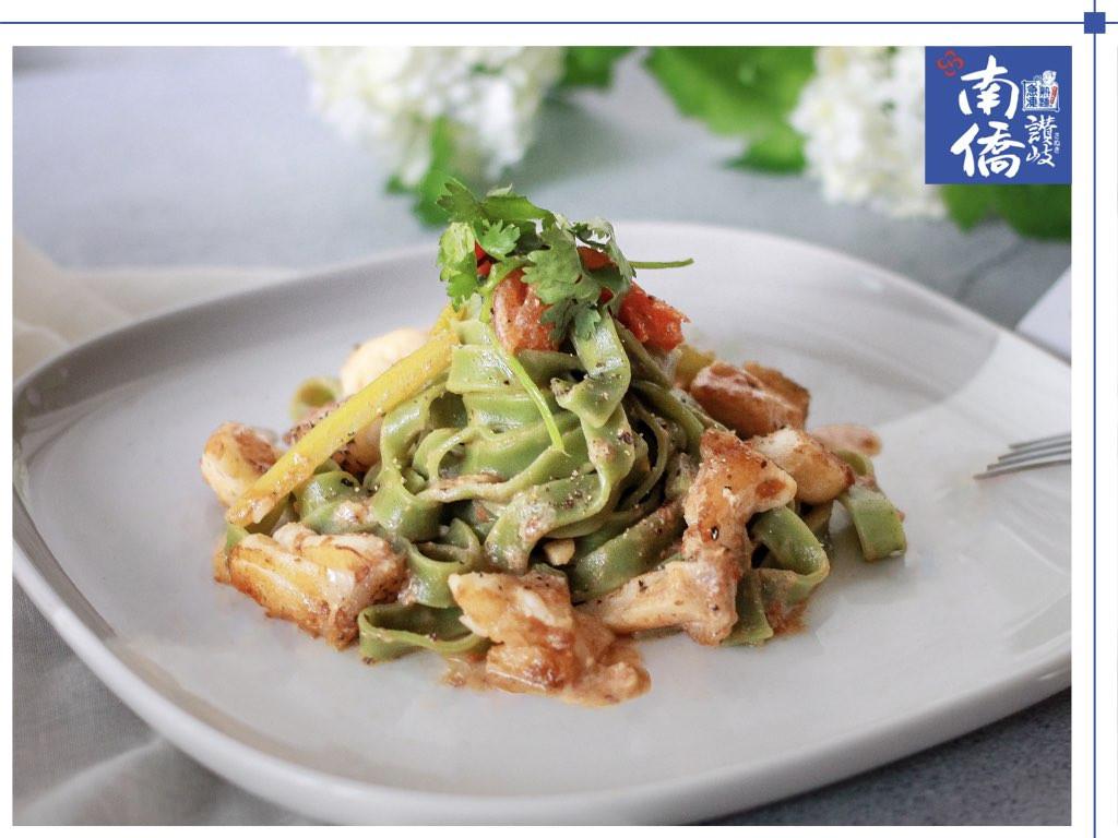 【南僑讚岐】茄汁燉海鱺菠菜義大利麵
