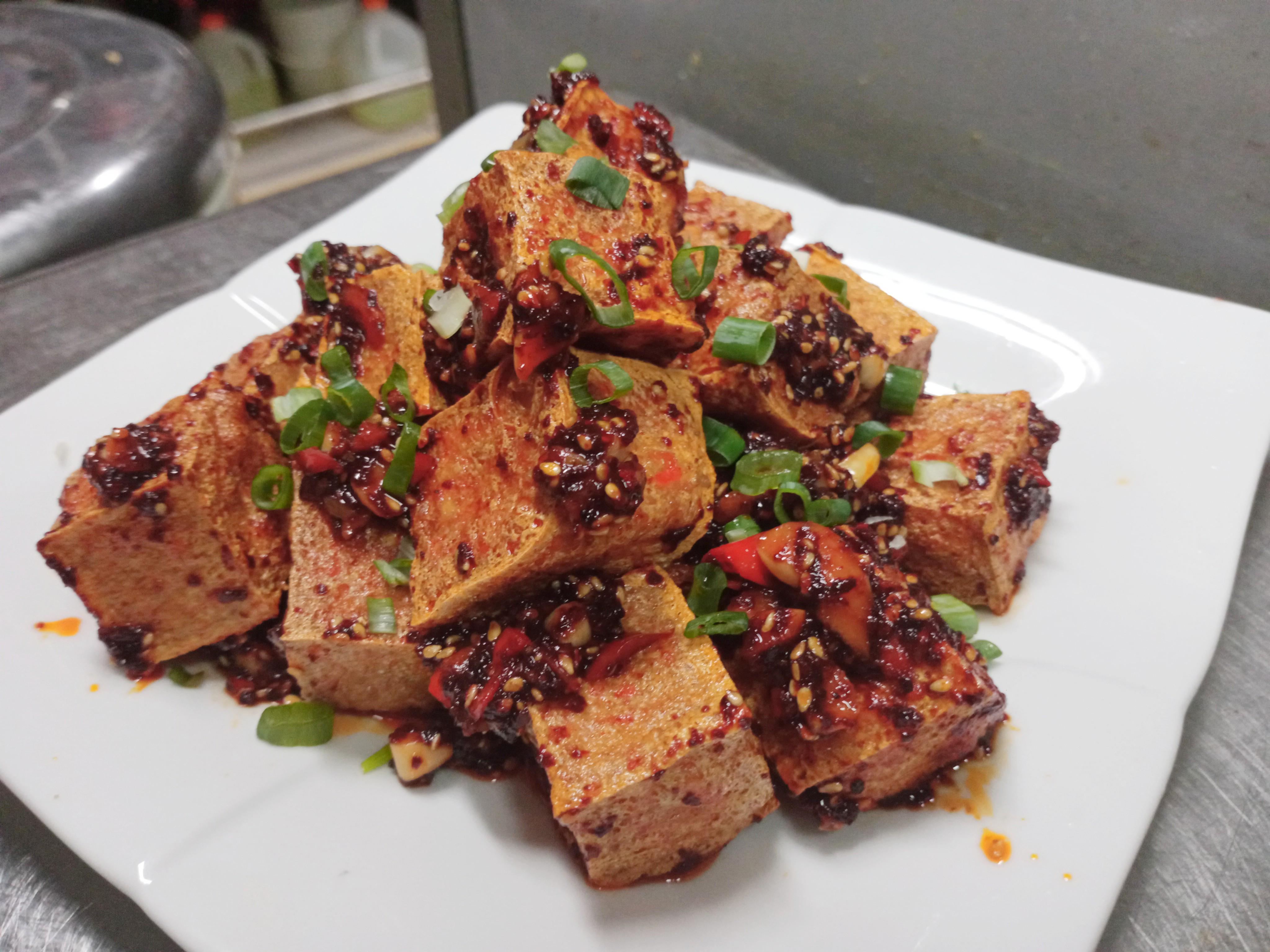 麻辣炸豆腐-下酒小菜