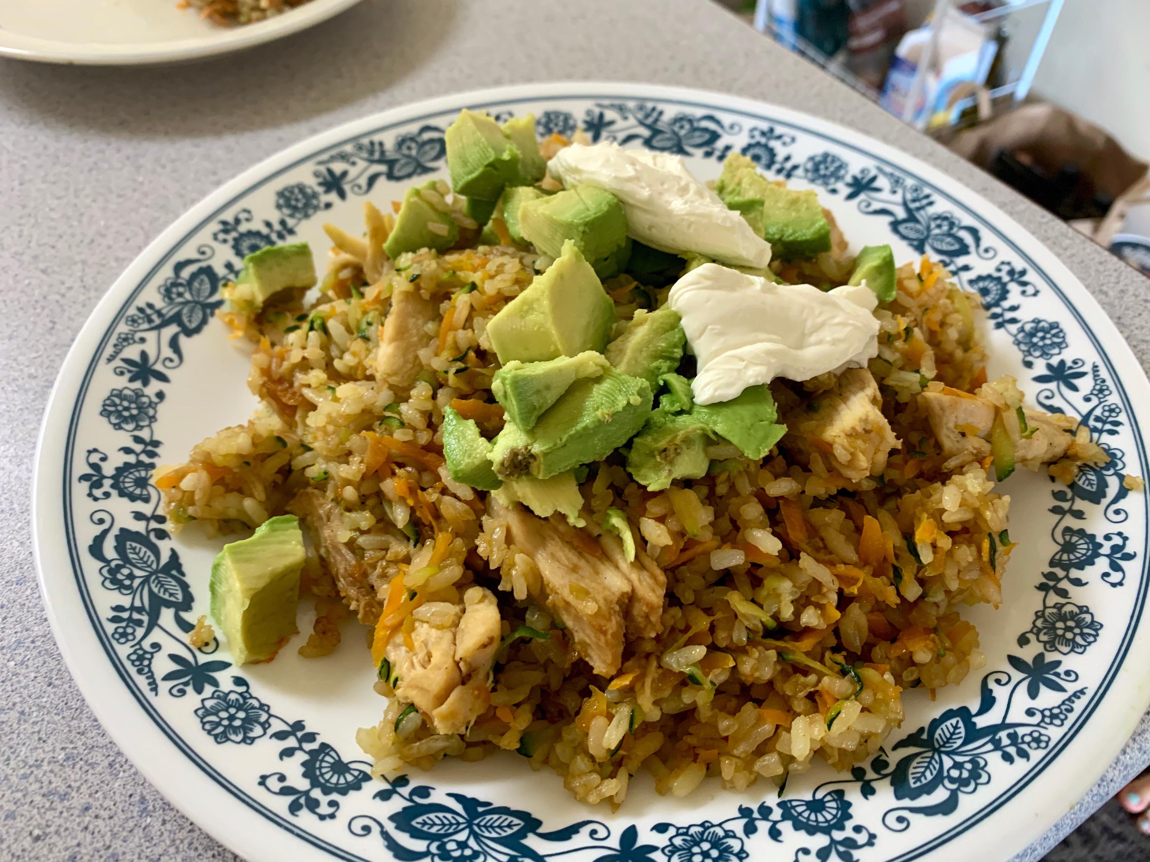 墨西哥酪梨炒飯(雞肉 蝦子或牛肉)🥑