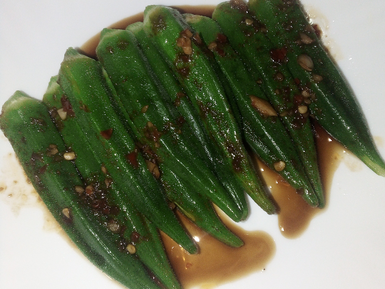 五分鐘料理蒜蓉醬油拌秋葵
