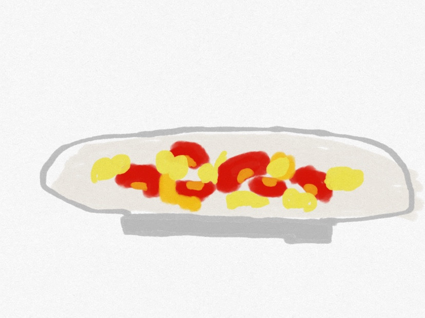 手繪圖畫♡番茄炒蛋