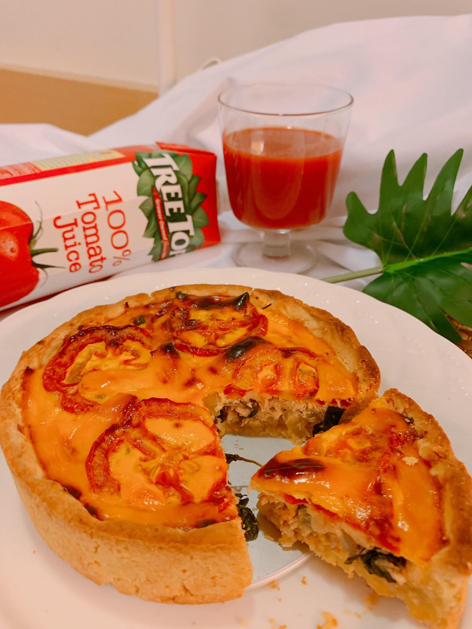 [高蛋白]蕃茄羅勒鮪魚法式鹹派