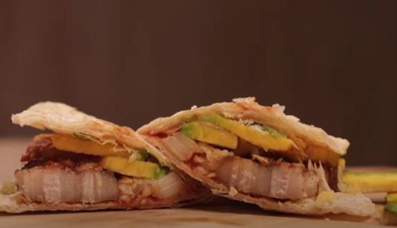 墨西哥塔可五花肉串薄餅