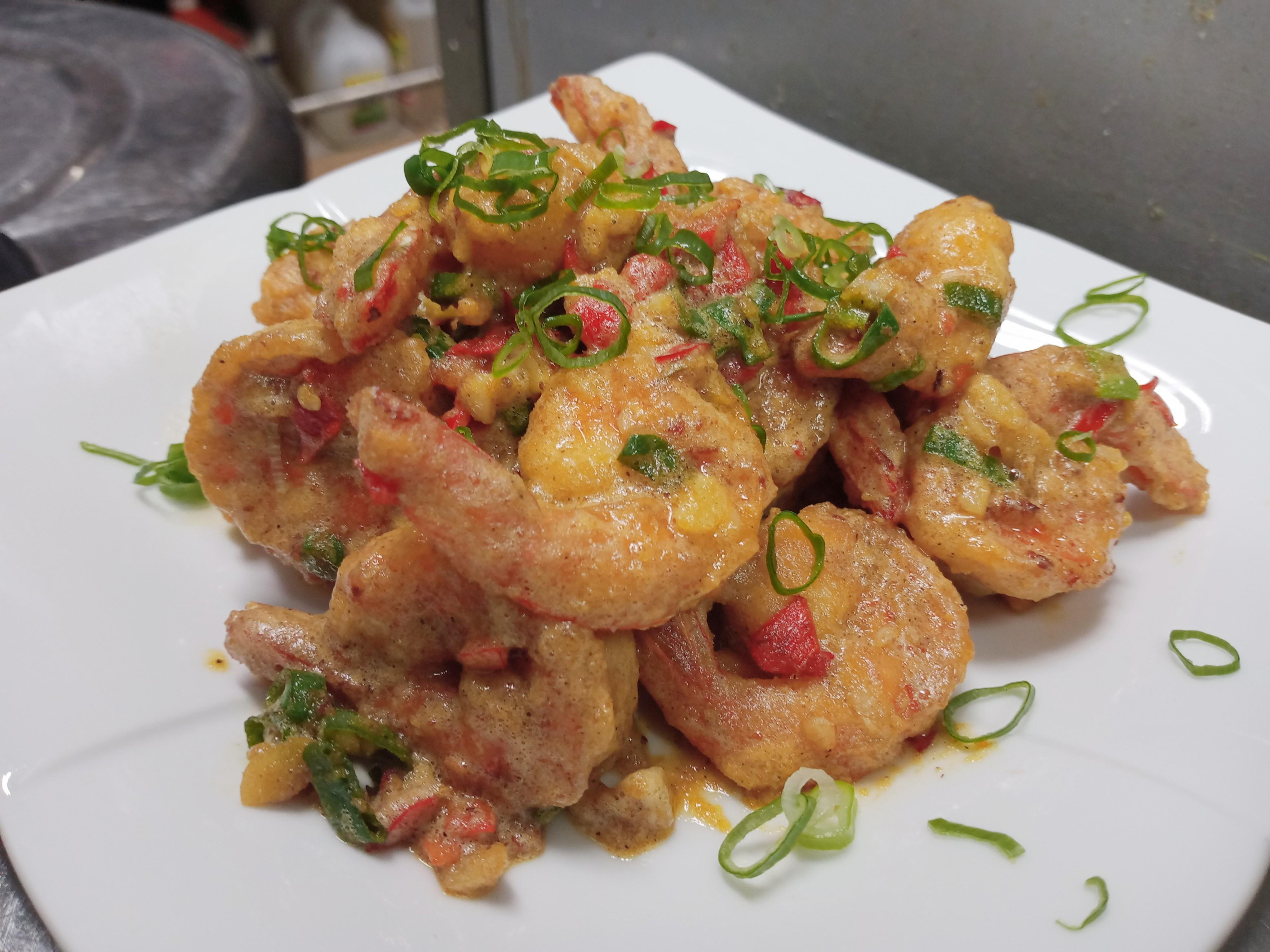 金沙蝦球-下酒菜