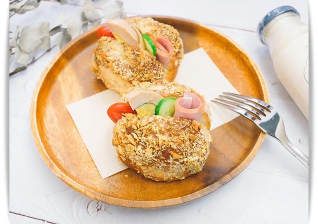 氣炸鍋「營養三明治」不油膩、香酥好吃。