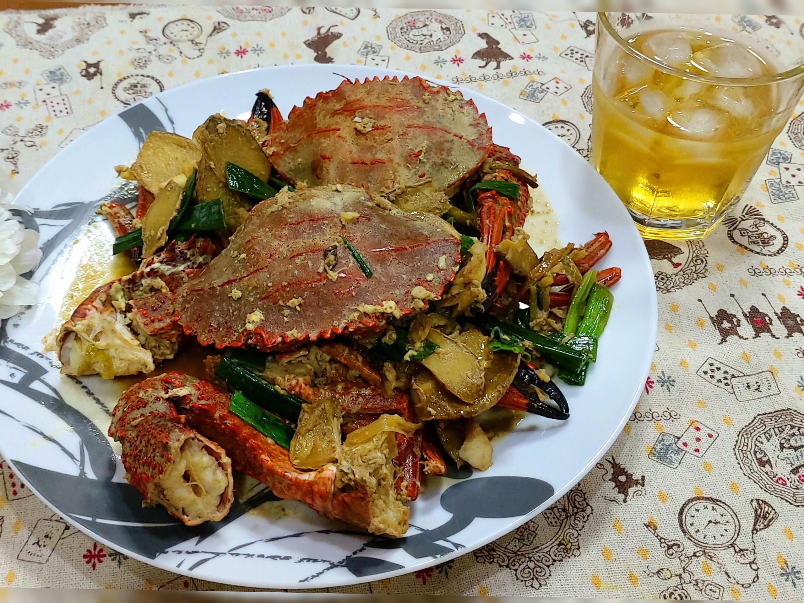 麻油炒石蟹(下酒菜)