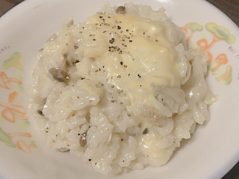清冰箱料理—白醬菇菇燉飯