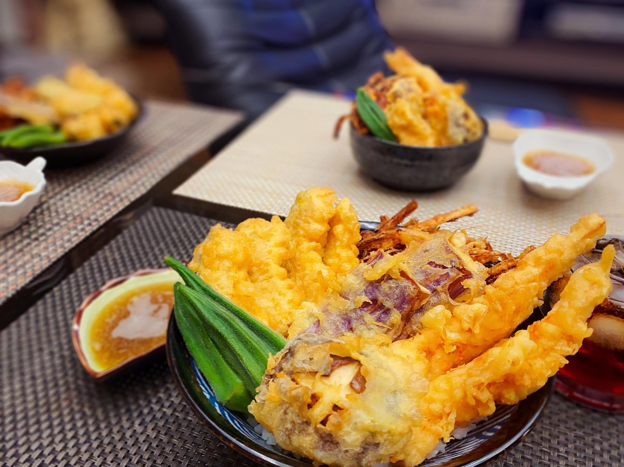 澎湖野生明蝦天丼(炸蝦天婦羅丼飯)