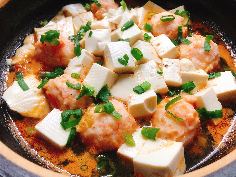 茄汁豆腐蝦滑煲