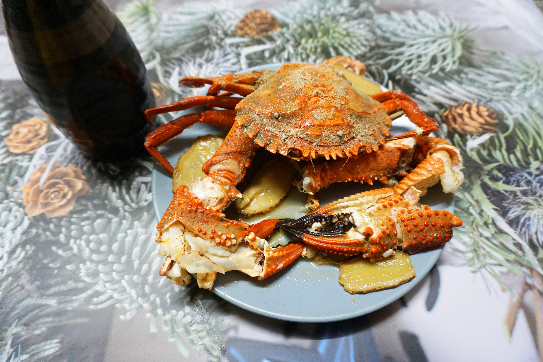 麻油香悶煎石蟹(澎湖野生石蟹)