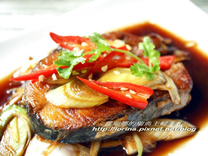 下飯料理~蒜苗燒旗魚