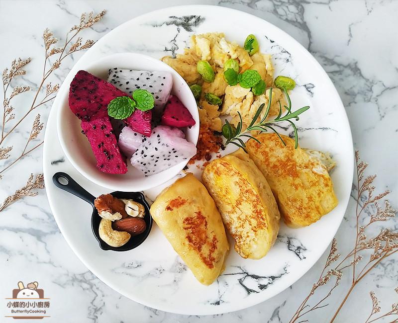 蛋煎饅頭佐煎蛋〞冷凍饅頭變化早餐