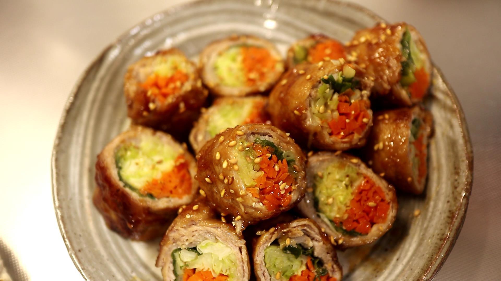 【蔬菜肉捲】滿滿的蔬菜,又美又營養!