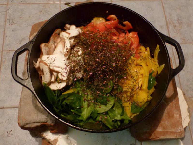 游擊食譜:都更人參蔬菜飯(鑄鐵鍋食譜)