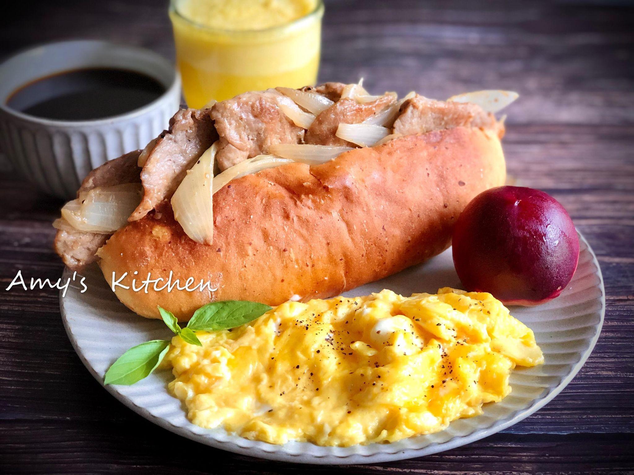 早午餐-自製大亨堡 (用鍋子發麵糰)