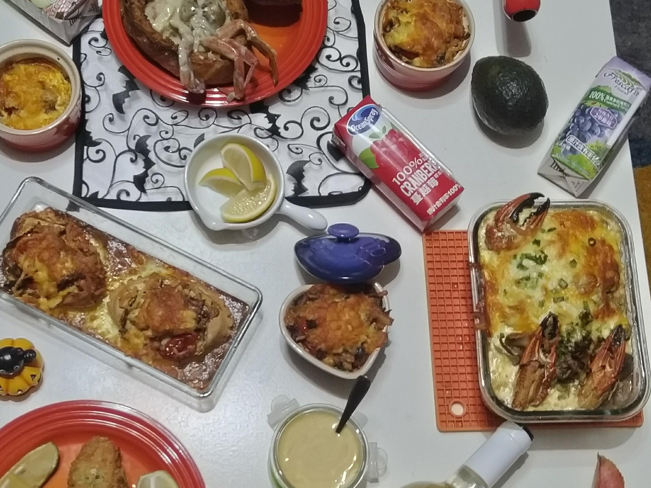 焗烤 🦀螃蟹 米型麵