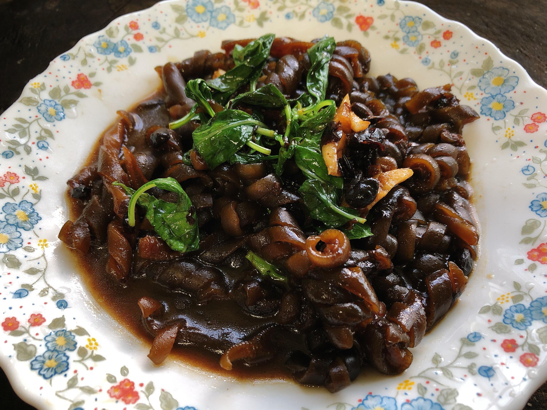 好吃便當菜:豆鼓炒海茸、豆鼓炒捲捲海帶