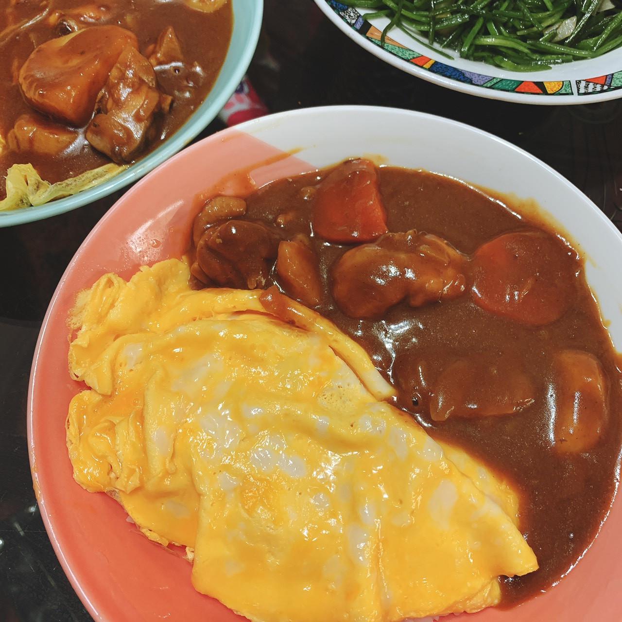滑蛋雞肉咖哩飯