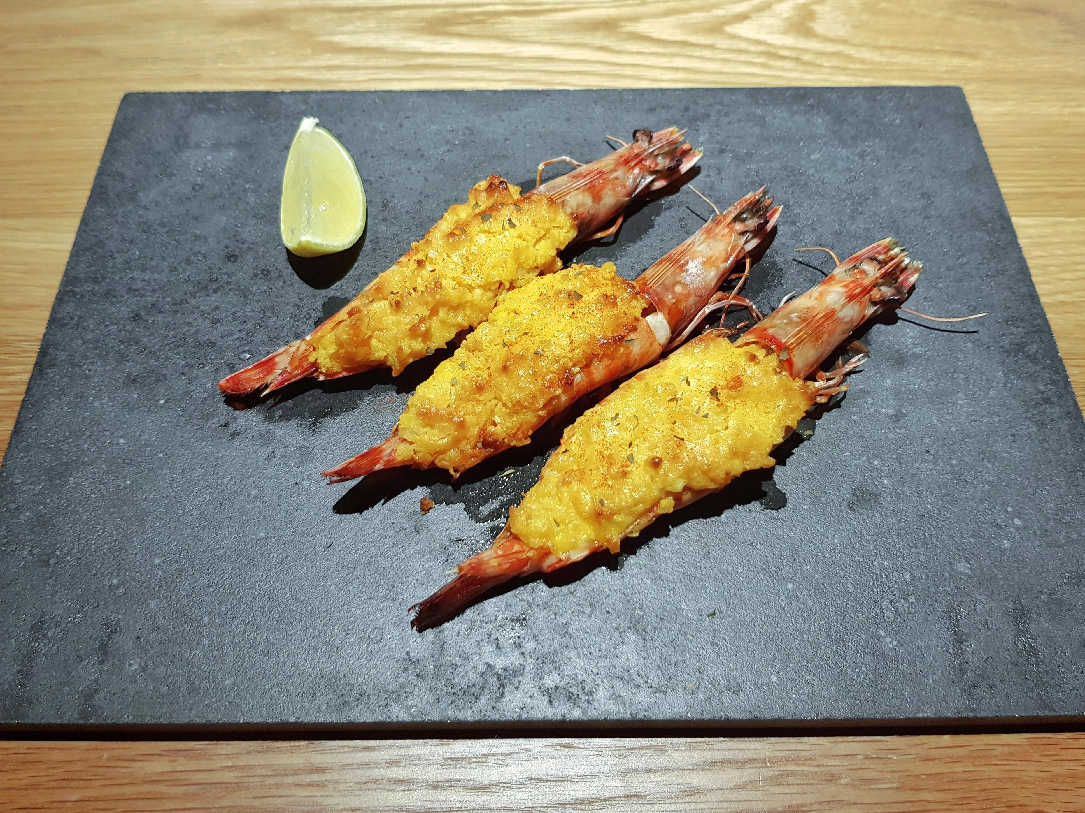 金沙蒜醬焗烤明蝦 (澎湖野生大明蝦)