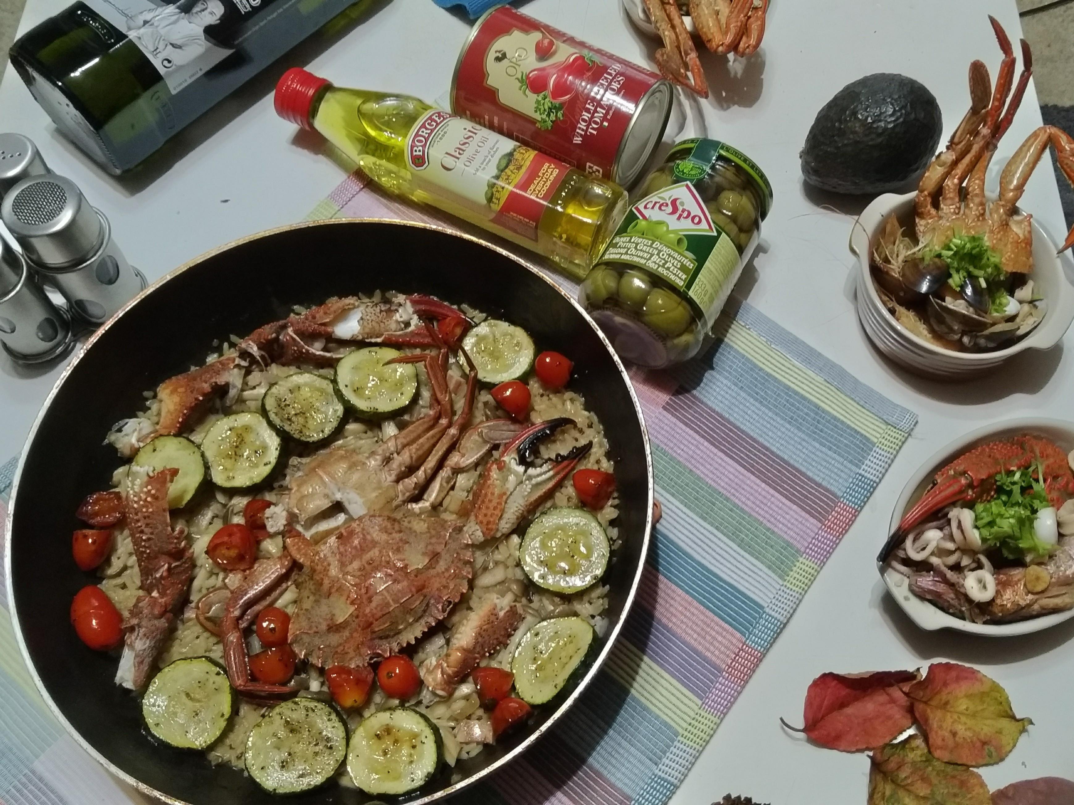 澎湖野生石蟹🦀燉飯