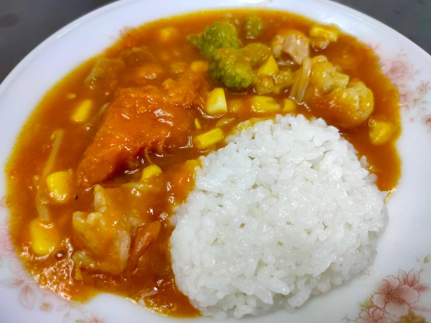 南瓜咖哩飯