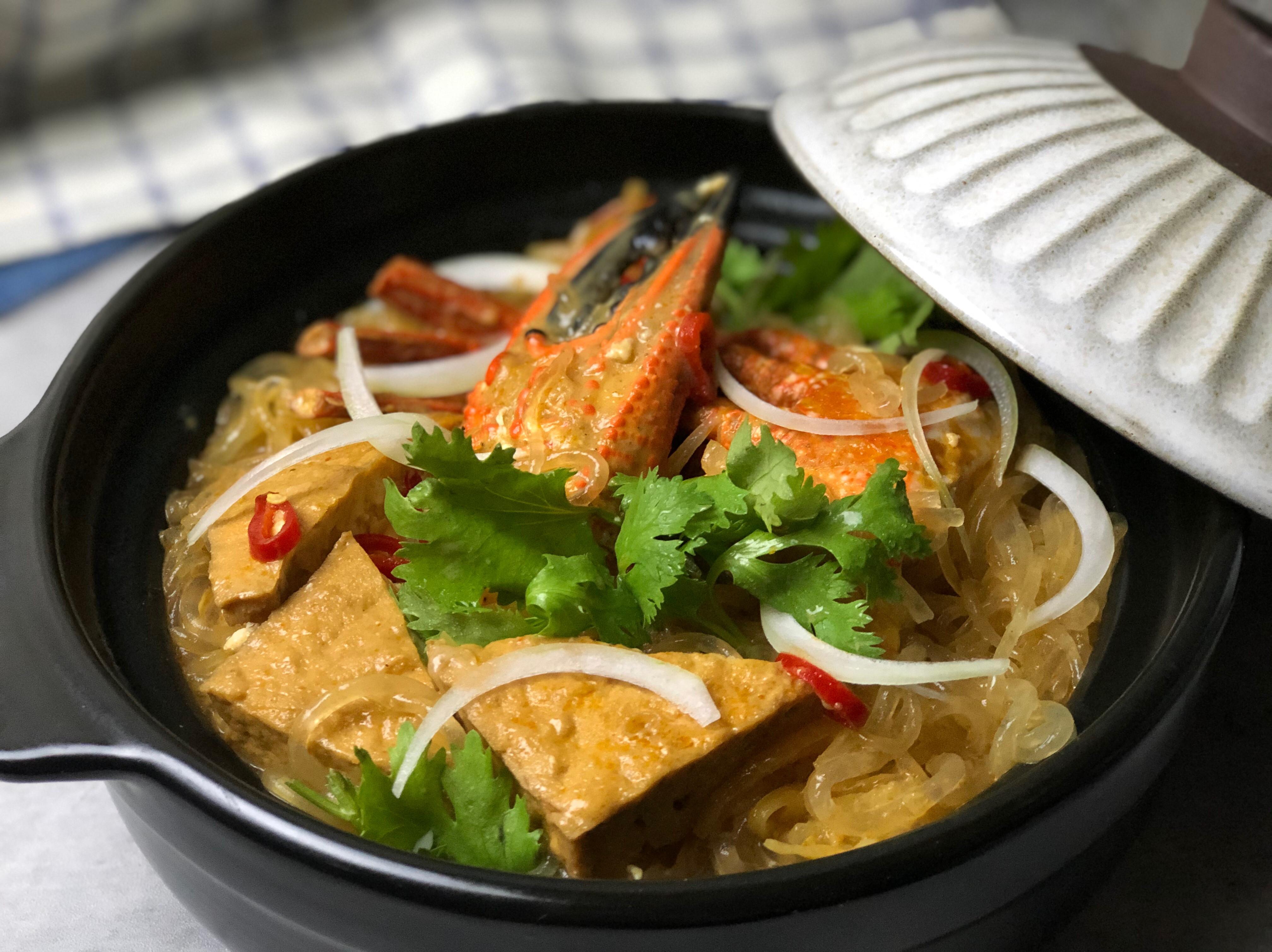 叻沙石蟹粉絲煲 /澎湖野生石蟹