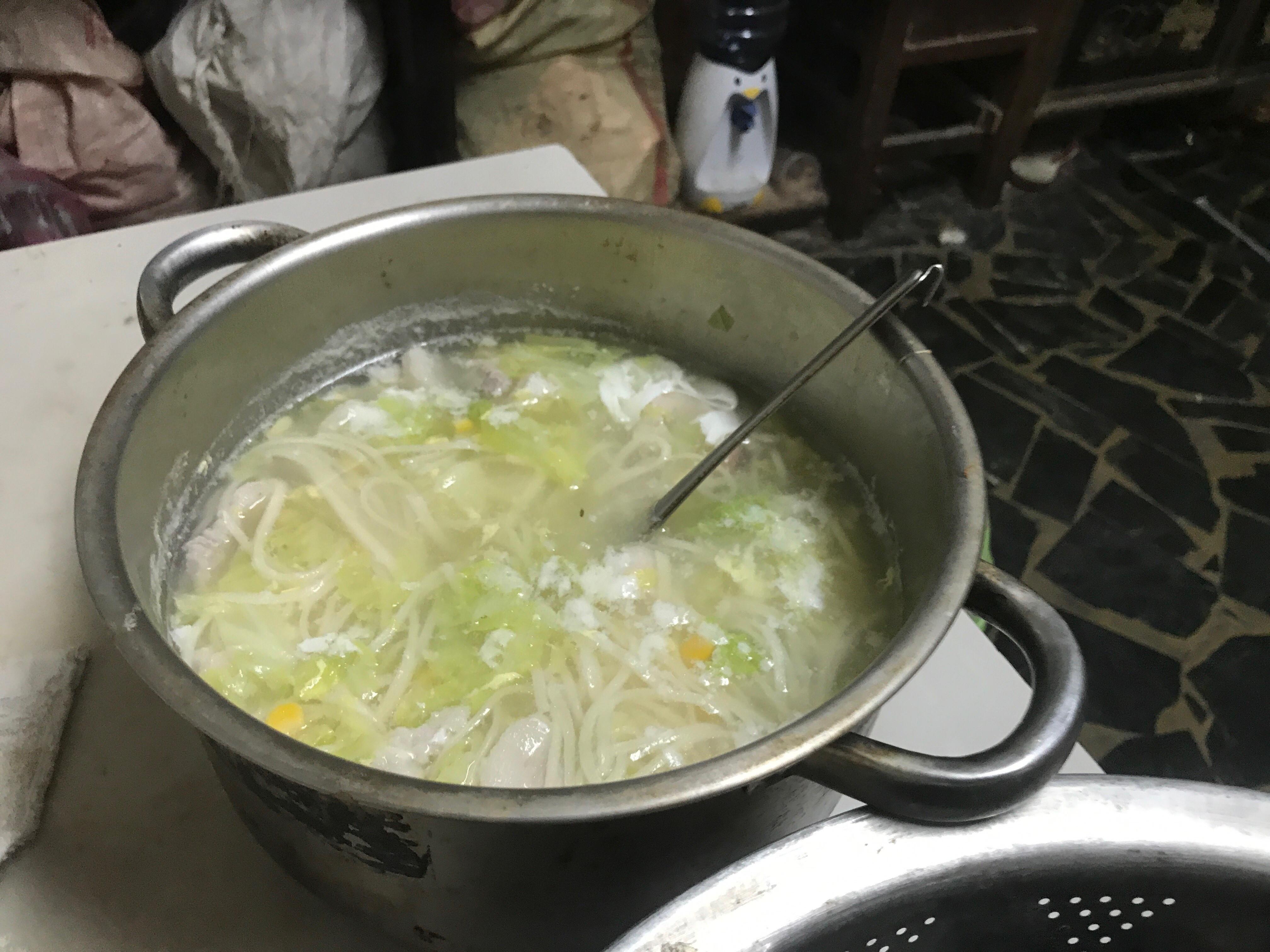 玉米雞蛋白菜麺
