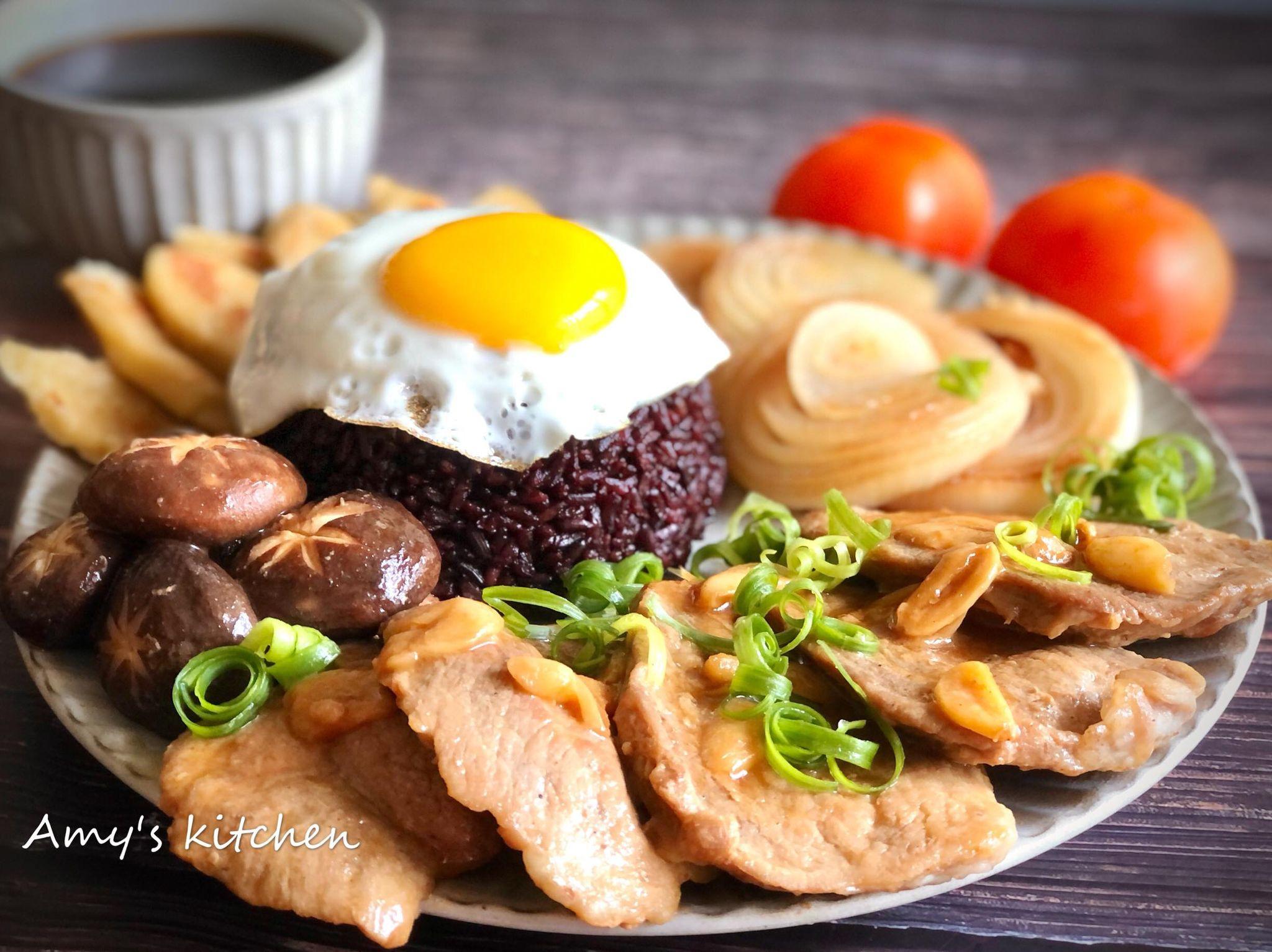 豬排飯 (太陽蛋作法)