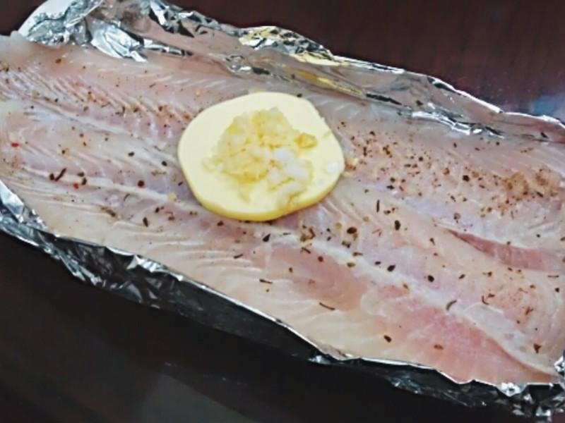 懶人料理~奶油蒜香烤魴魚排