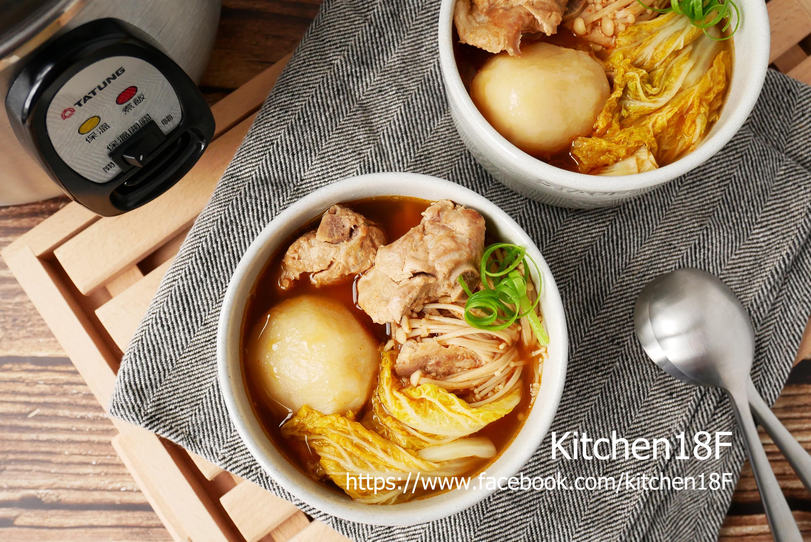 韓式馬鈴薯豬骨湯_電鍋料理