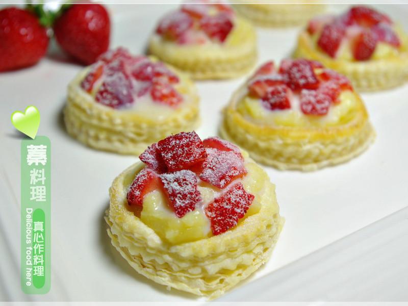 《草莓就愛鷹牌煉奶》白雪草莓塔