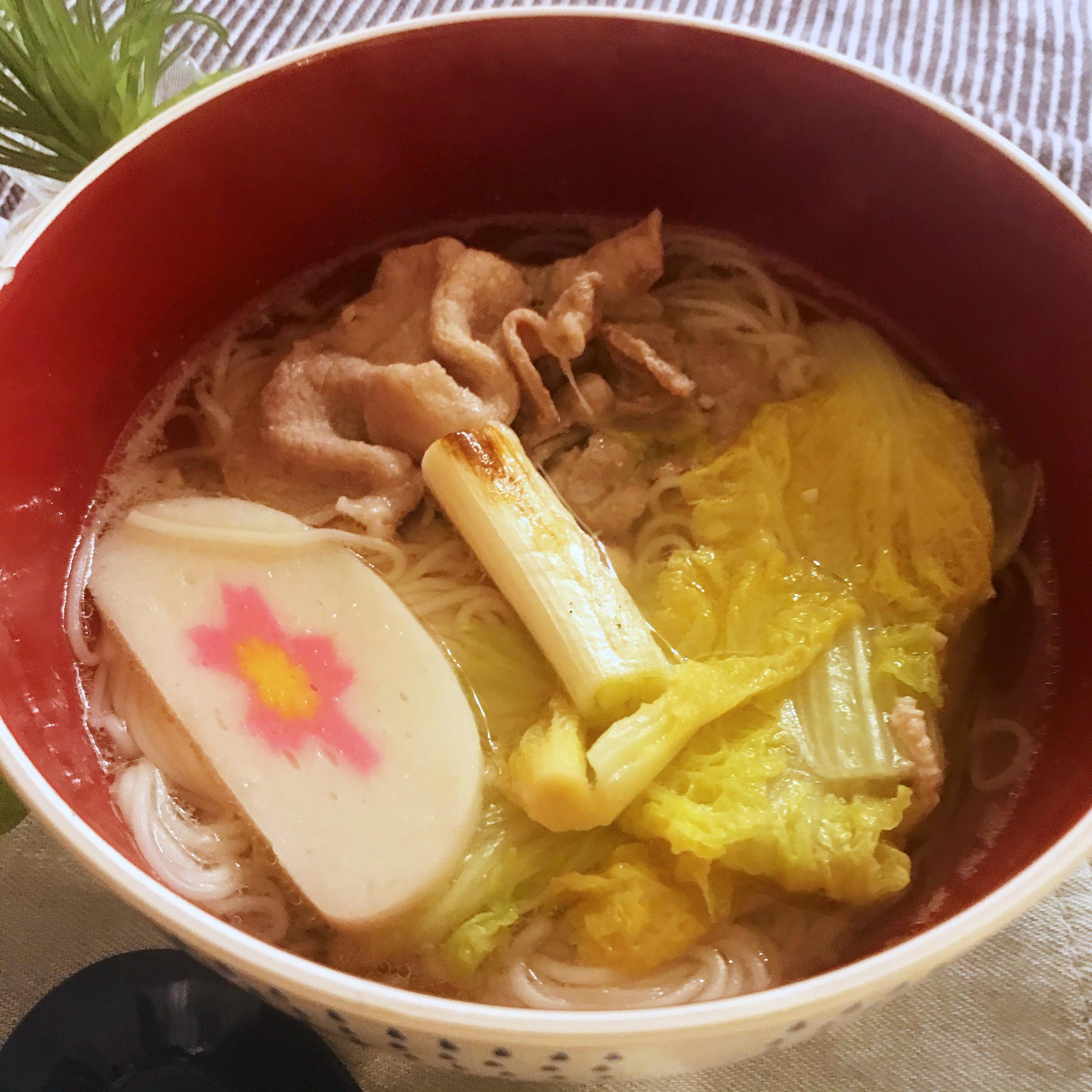 塩味白菜肉片湯麵 (露營OK)