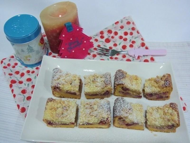 「金采耶誕」櫻桃草莓奶酥蛋糕