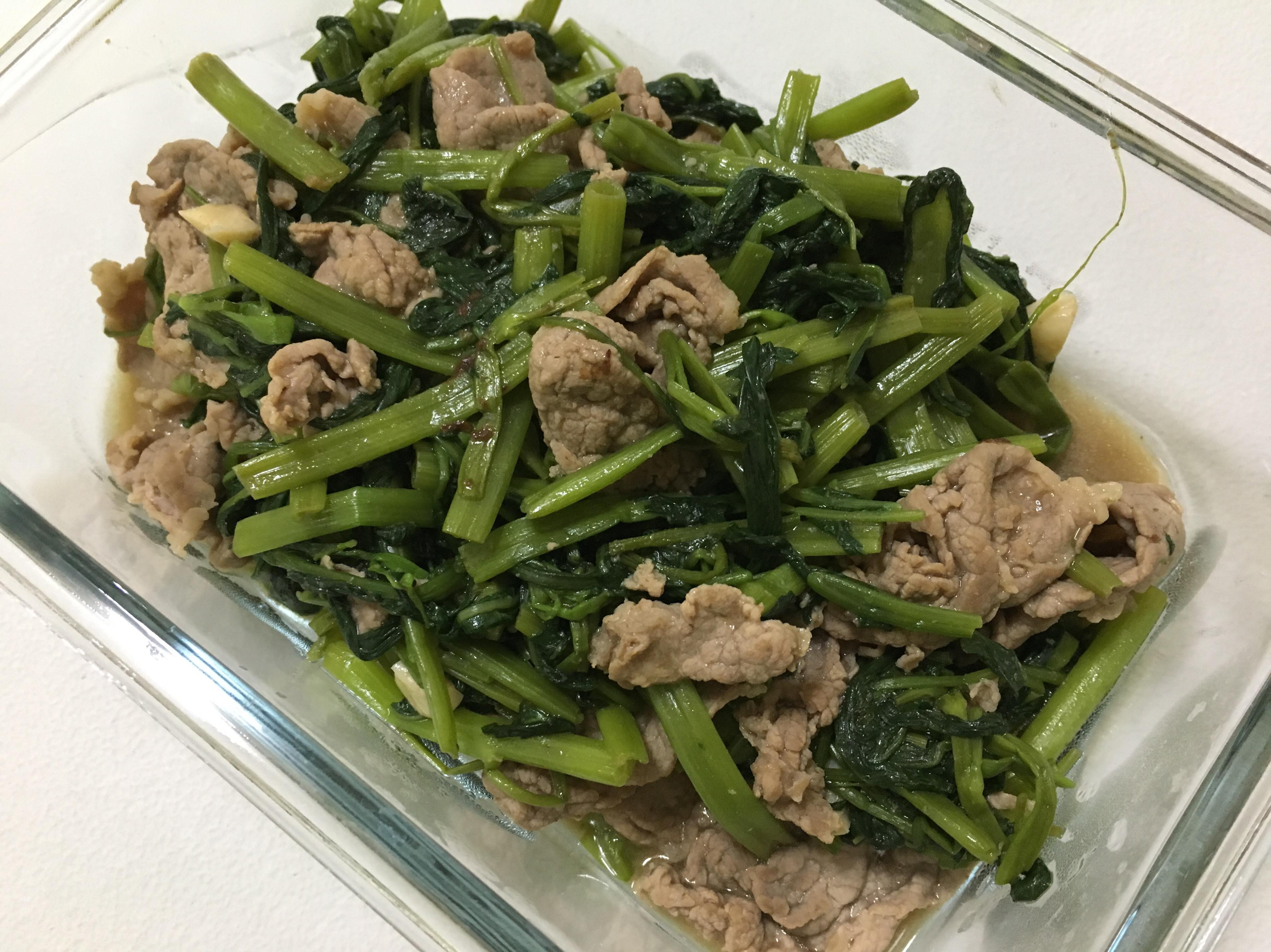 空心菜炒牛肉(無沙茶)
