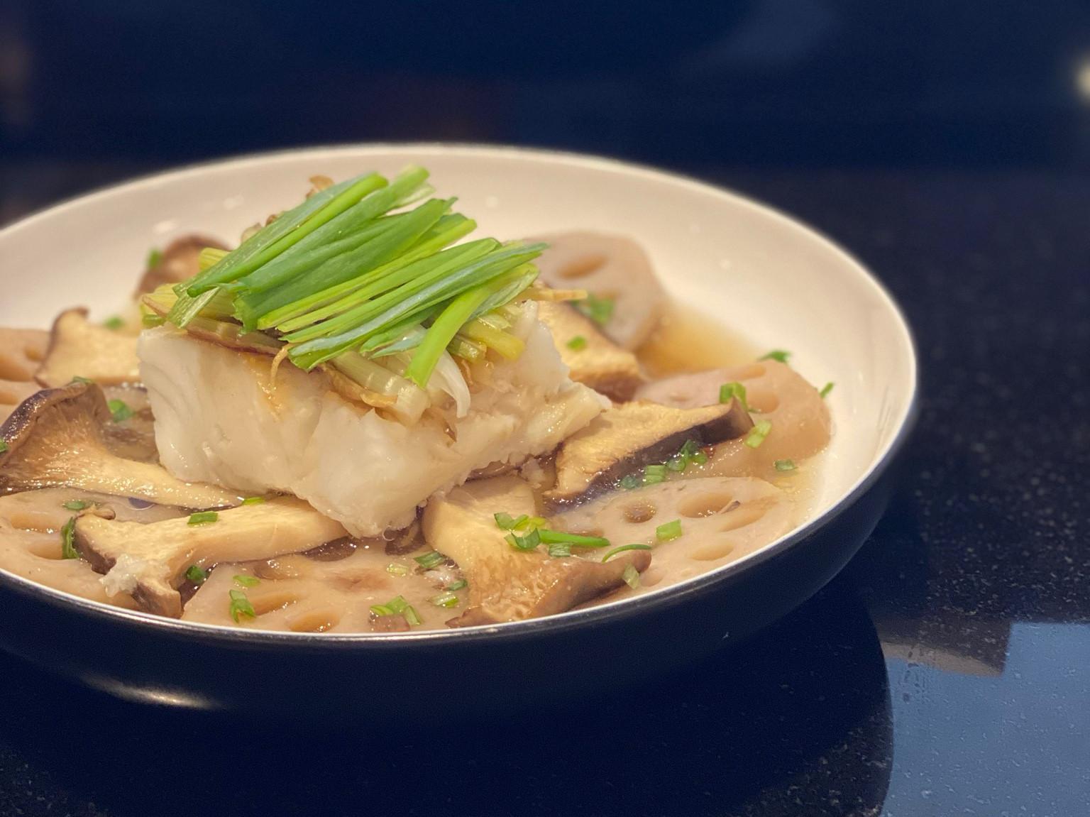 清蒸鱈魚(壓力鍋食譜)