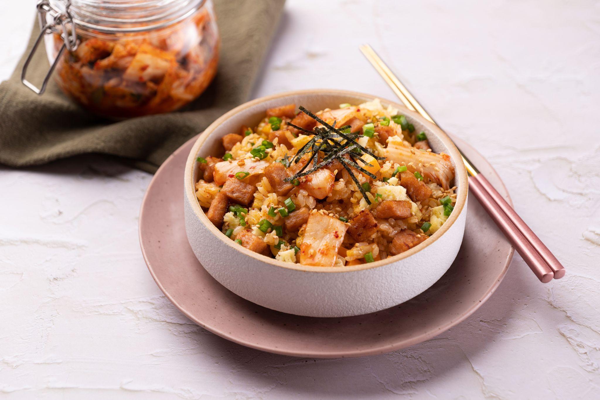 新餐肉泡菜炒飯(純素)