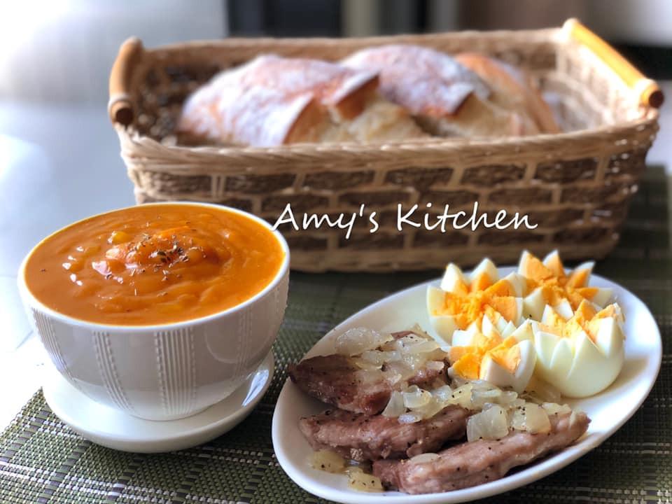 早午餐-南瓜濃湯佐圓法