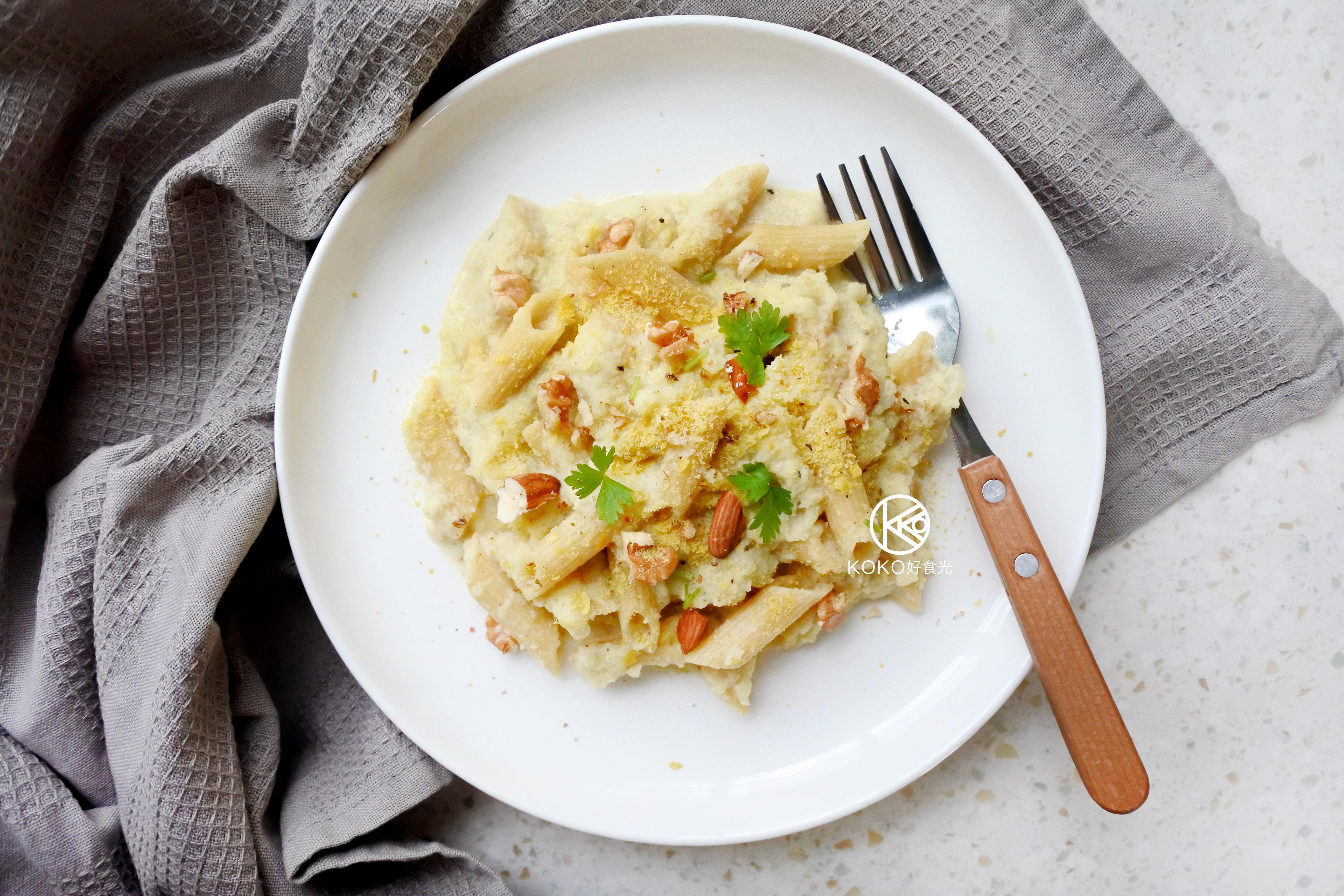 花椰菜豆漿白醬義大利麵(無奶素)