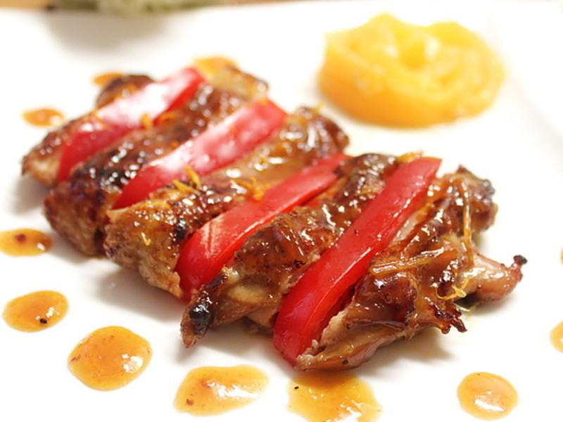 漂亮的宴客菜~橙汁雞腿排(好菜網)