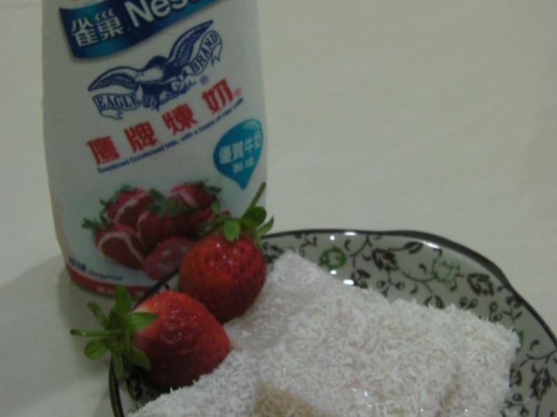 《草莓就愛鷹牌煉奶》-草莓煉奶雪花糕