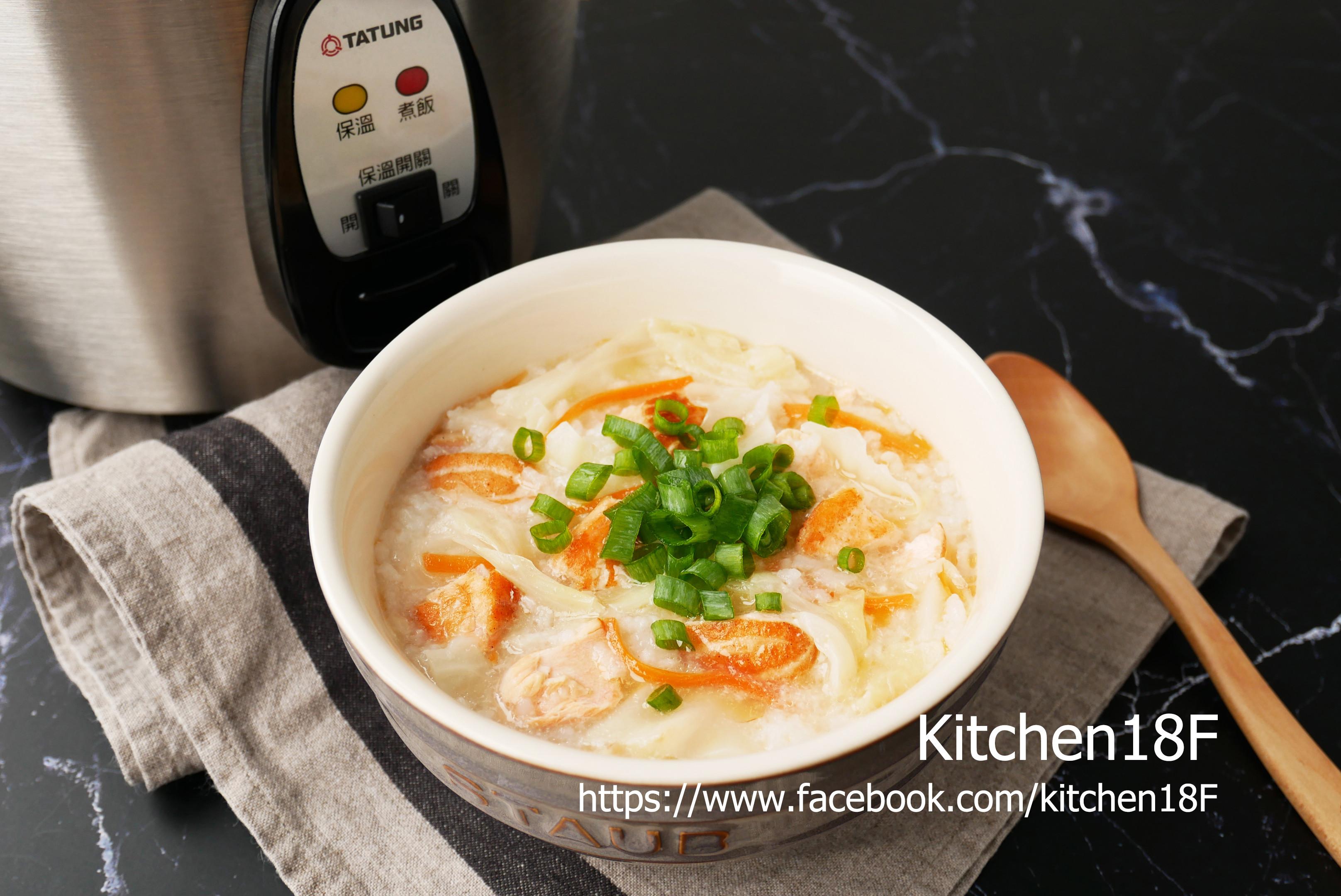 鮭魚高麗菜粥_電鍋料理