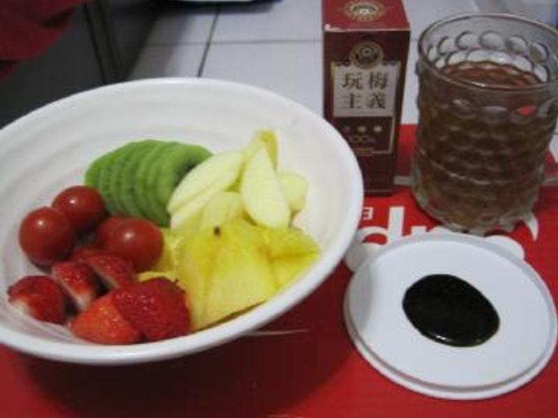 【梅狀元陳醋老梅膏】梅醋汁+梅醋水果拼盤