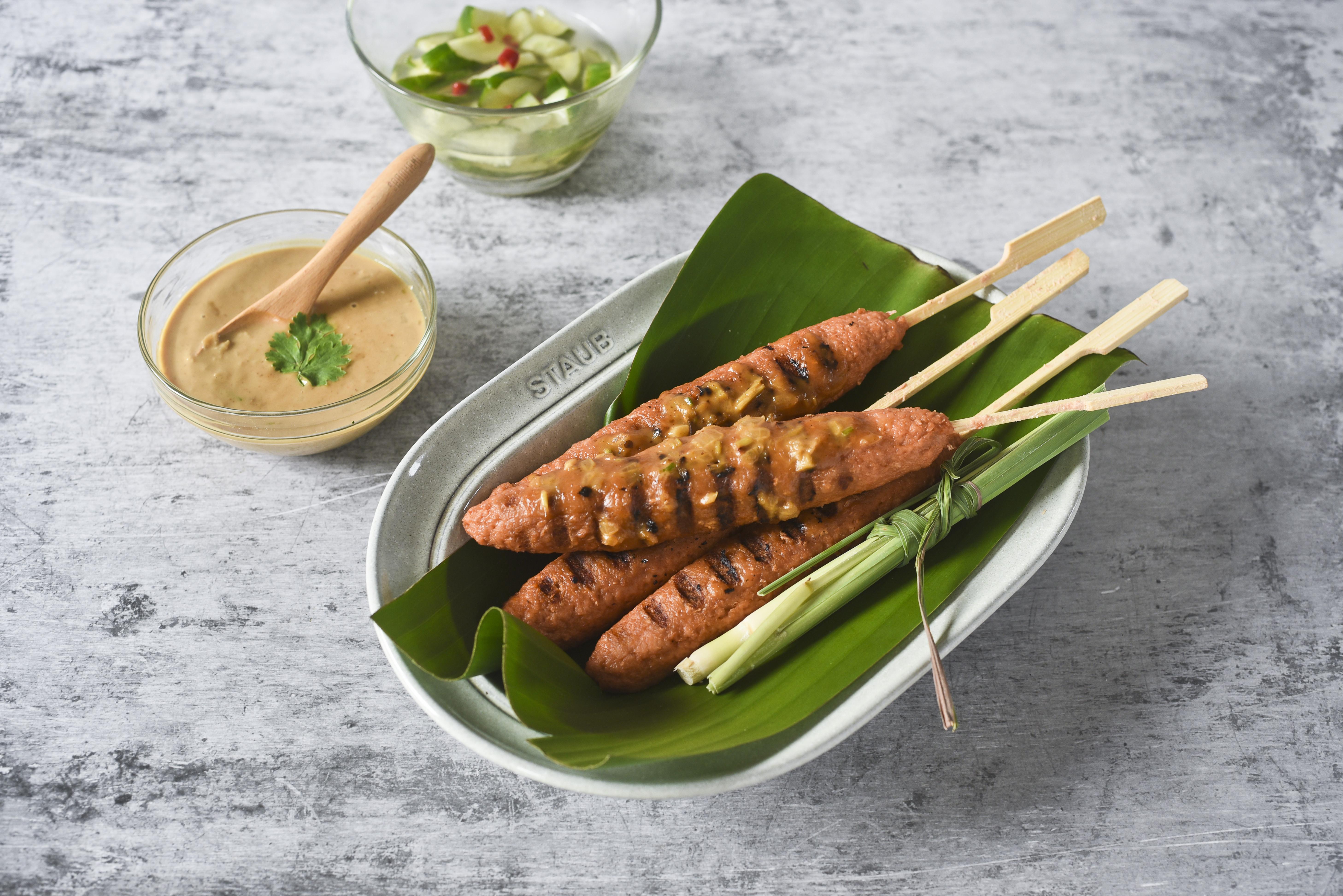 [蔬食]南洋沙嗲烤肉串