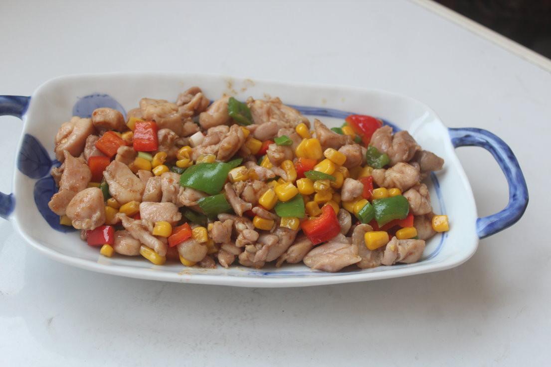 沙茶玉米雞肉