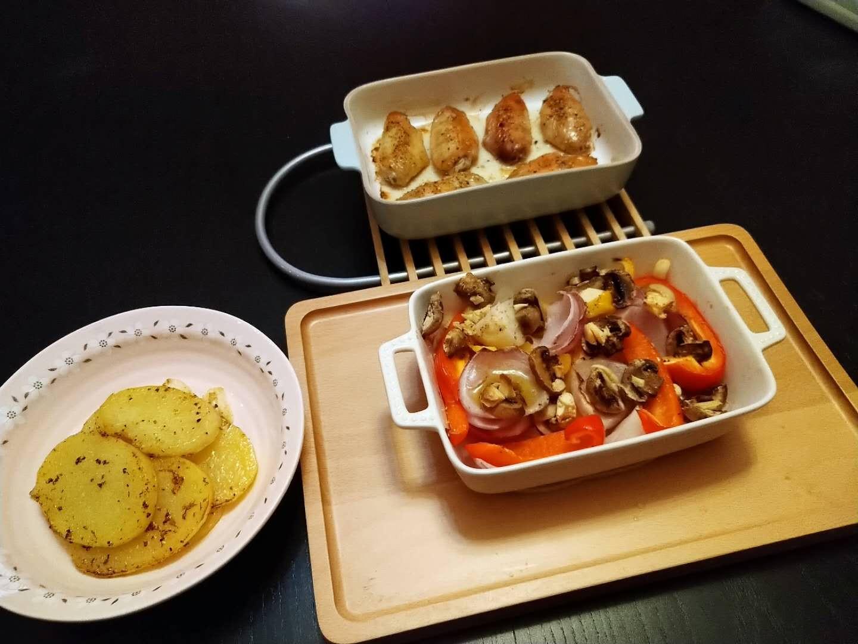 柚香烤雞翅佐時蔬