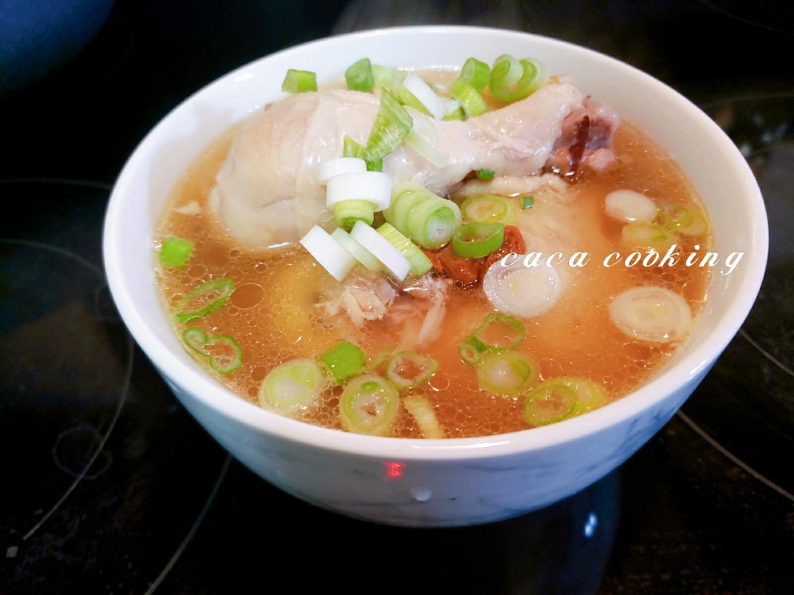人蔘蒜頭雞湯(電子壓力鍋)
