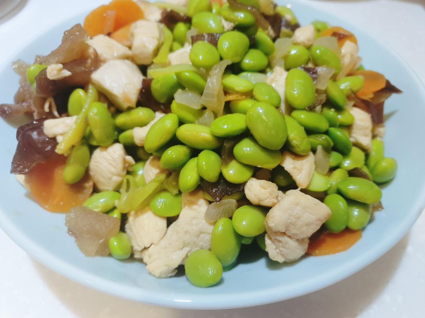 低醣飲食|毛豆清炒雞胸肉